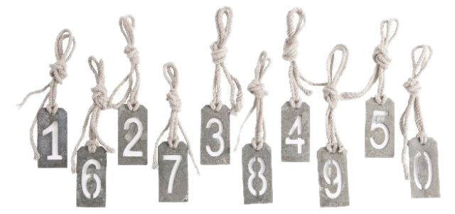 Small Stencil Numbers, Set of 10