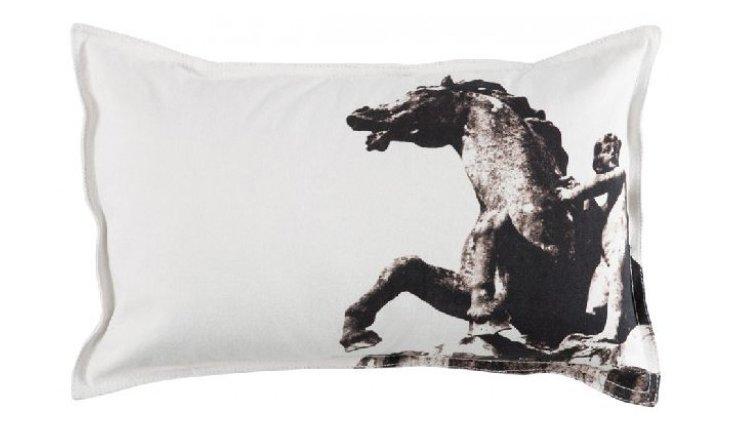 Boy & Horse Bolster Pillow Cover