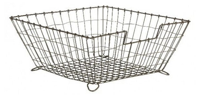 "14.75"" Catchall Desk Basket, Silver"