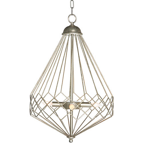 Church Droplet Chandelier, Silver