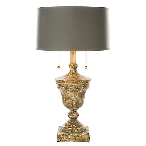 Namur Fragment Table Lamp, Antiqued Gold