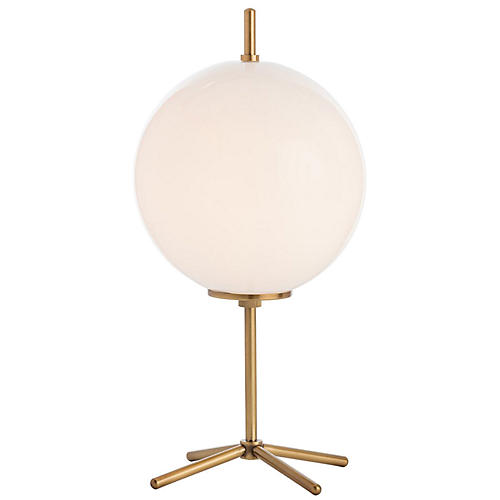 Duhon Table Lamp, Brass/Opal
