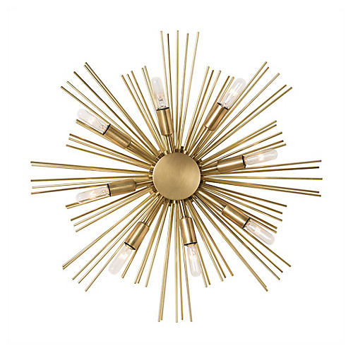 Jiten Sconce, Antiqued Brass