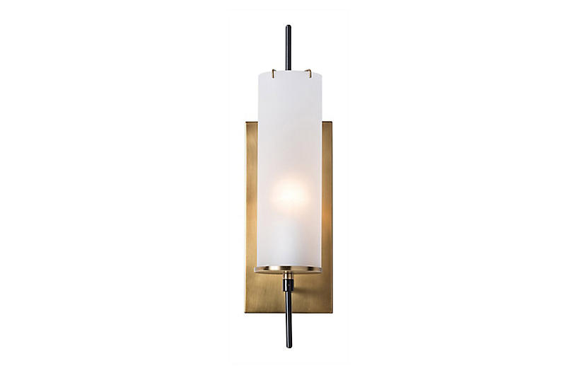 Stefan Sconce, Brass/Frosted