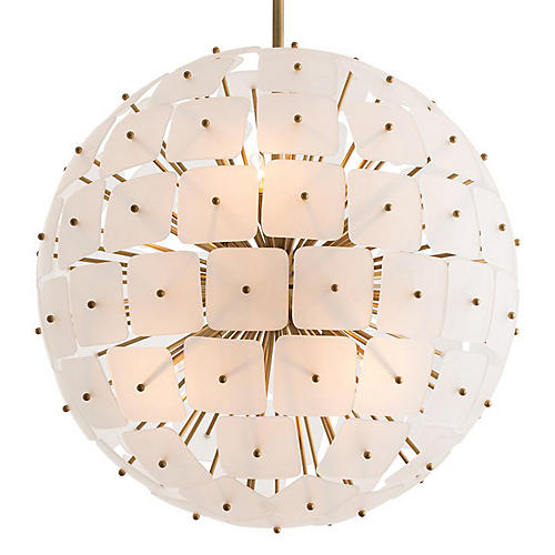 Enya Chandelier, Brass/Smoked