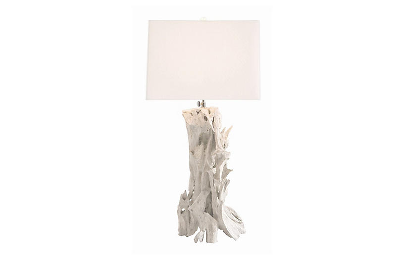 Bodega Table Lamp, Whitewash