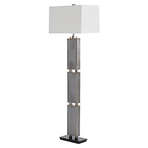 Graham Floor Lamp, Iron/Off White