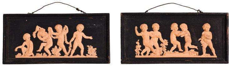 Terracotta Plaques, Pair