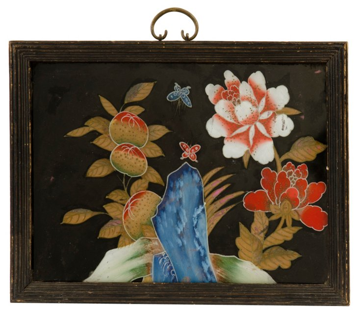 Japanese Reverse Glass Painting
