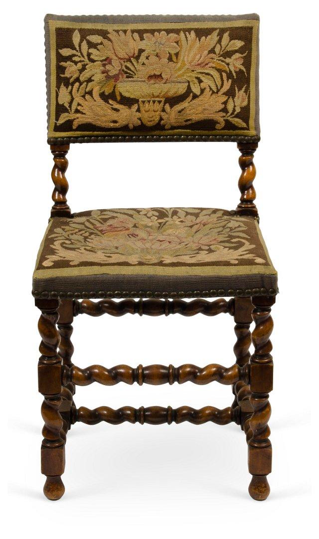 Barley Twist Walnut Chair