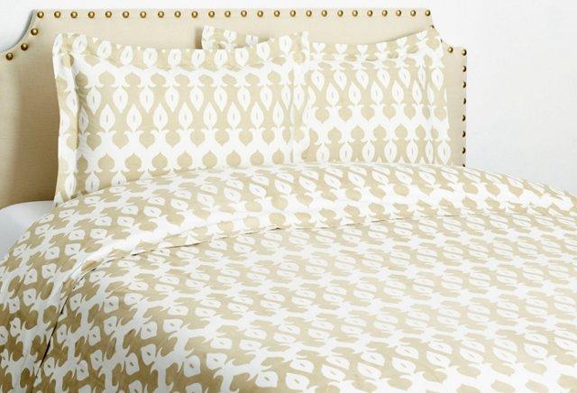 Spade Duvet Set, Linen