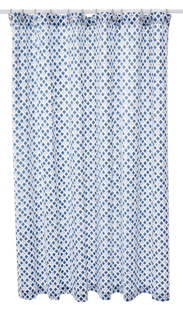 Mosaic Shower Curtain, Cerulean