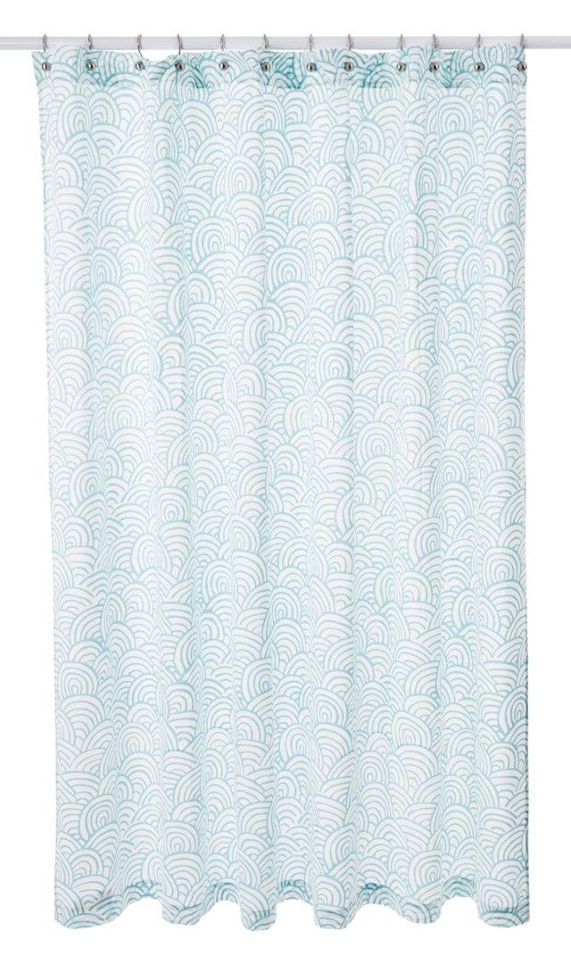 Tempest Shower Curtain, Aegean