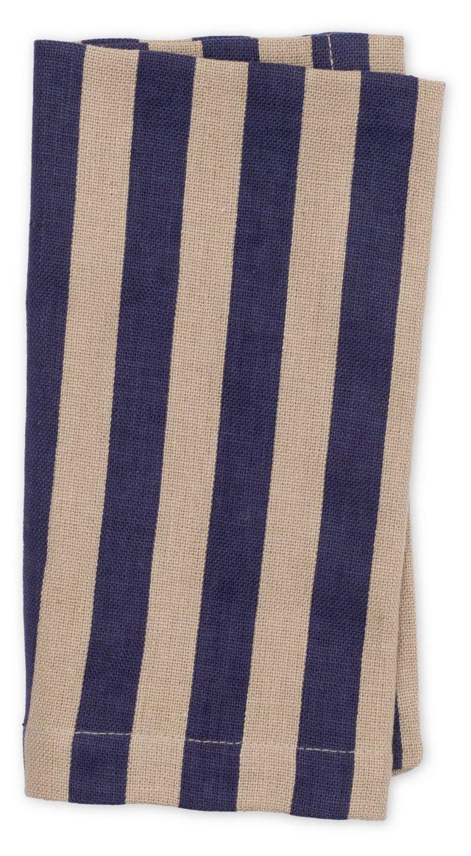 S/4 Striped Dinner Napkins, Blue
