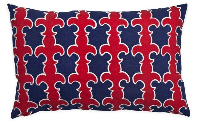 Fleur-de-Lis 14x22 Cotton Pillow