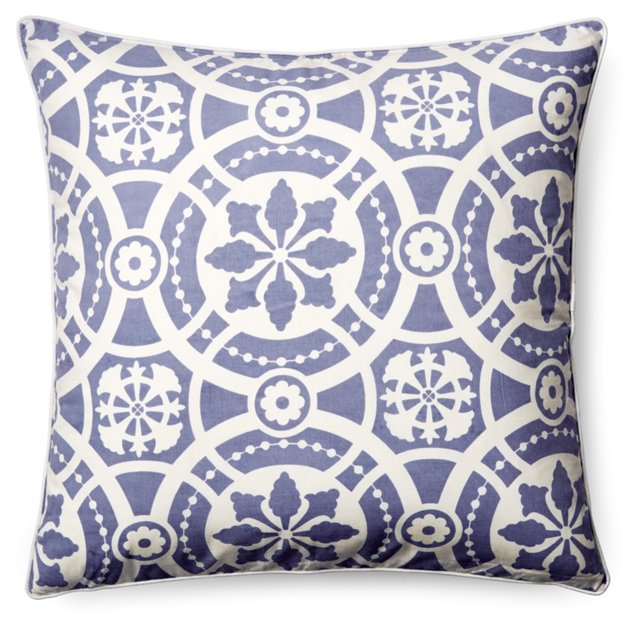 Medallion 20x20 Pillow, Periwinkle