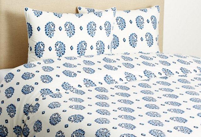 Boteh Printed Duvet Set, Blue Multi