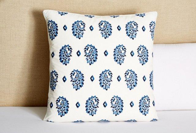 Boteh Printed Euro Sham, Blue Multi
