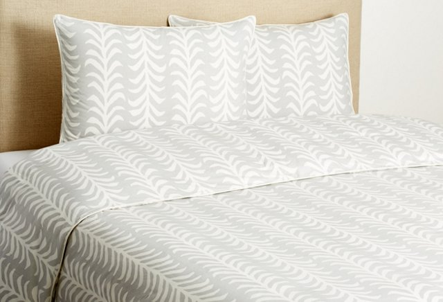 Sprig Duvet Set, Dove