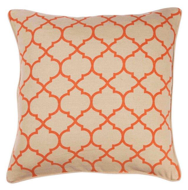 Trellis 20x20 Pillow, Orange