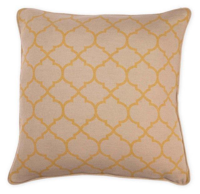 Trellis 20x20 Pillow, Yellow