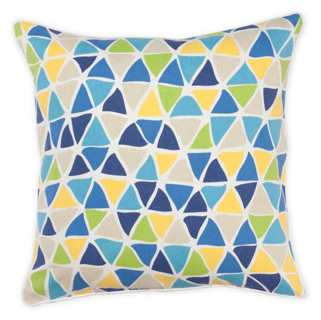 Freeform 20x20 Cotton Pillow, Multi