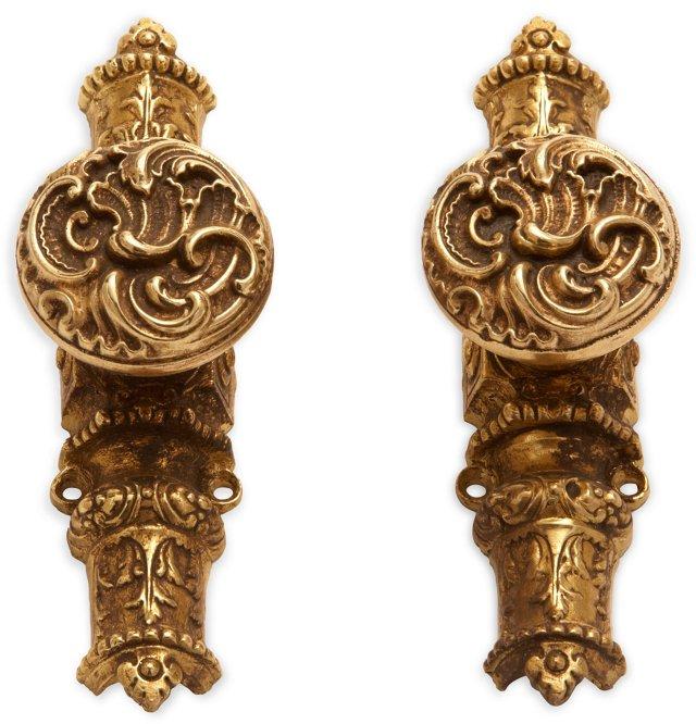 Brass Hardware Knobs, Pair