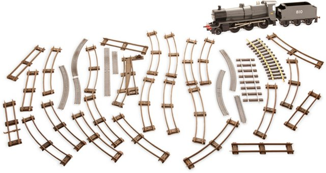 Model Train Set w/ Rails