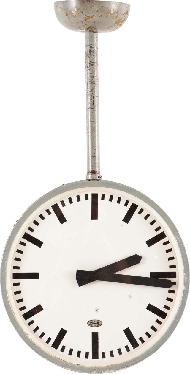 Belgian Industrial Factory Clock