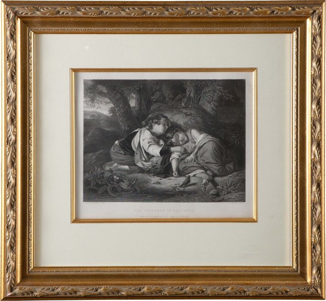 Children Sleeping Engraving I