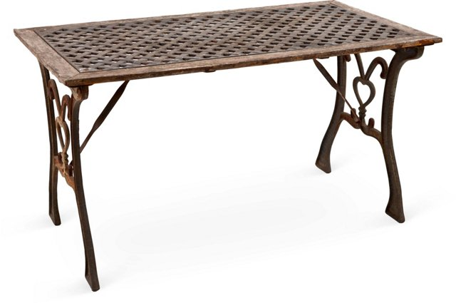Vintage Lattice Top Garden Table
