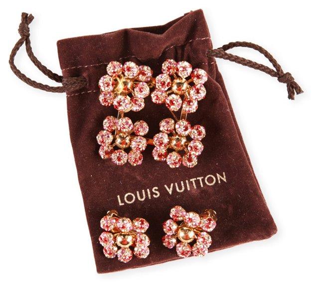 Louis Vuitton Earrings 7 Brooch Set