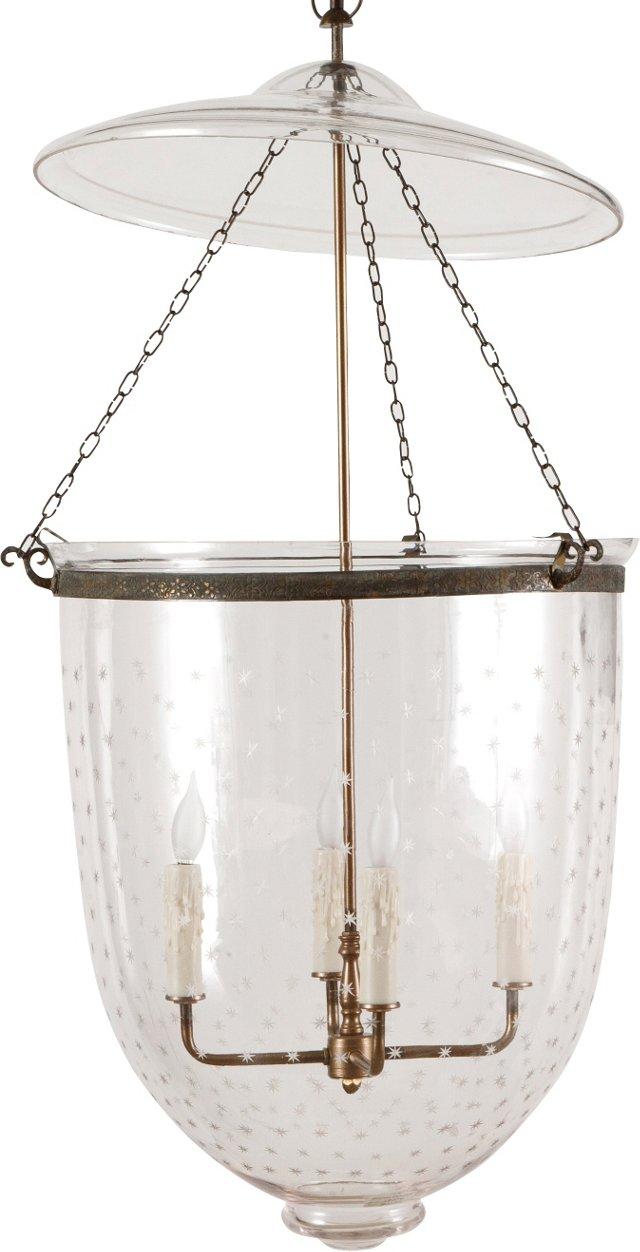 Antique Belgian Bell Jar Lantern I