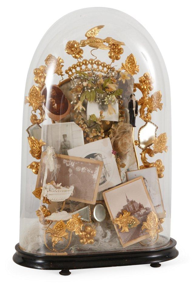 19th-C. Souvenir de Famille Globe