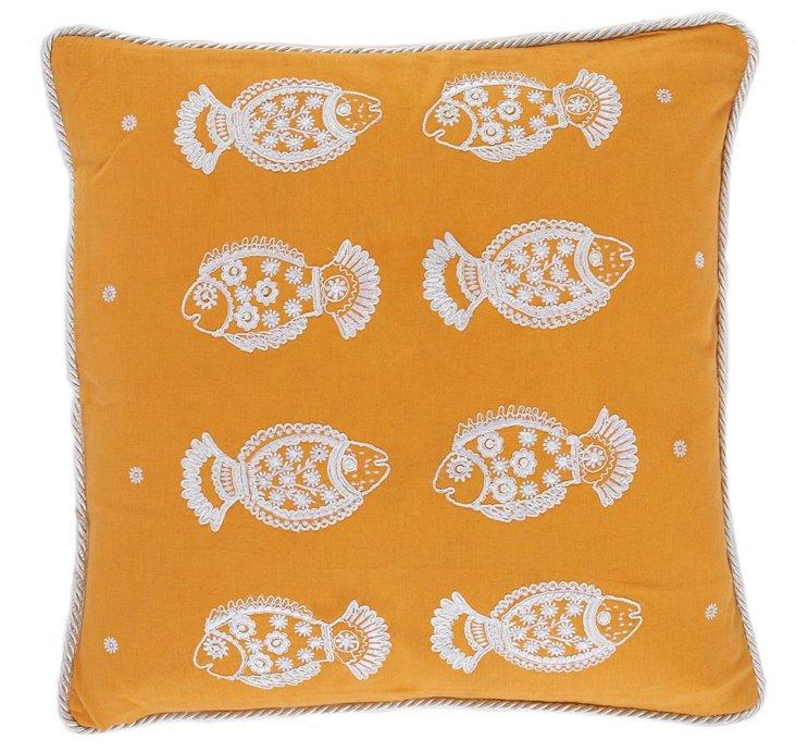 Pisces 20x20 Pillow, Orange