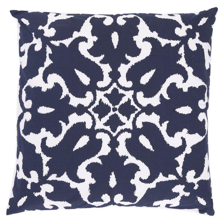 Sindoor 20x20 Cotton Pillow, Navy