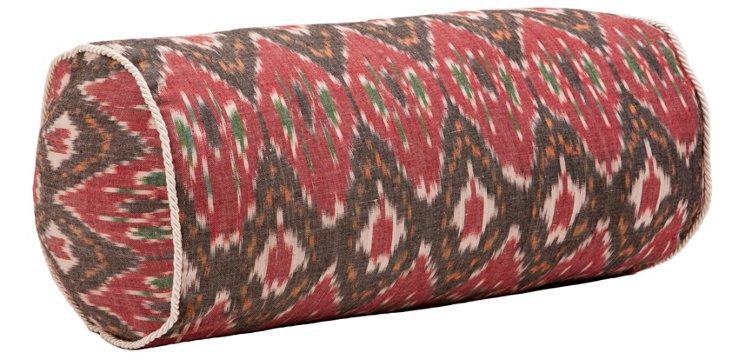 Bali 8x17 Cotton Bolster, Red