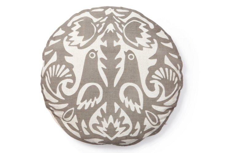 Kaja Round Pillow, Gray