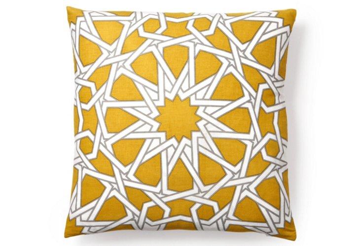 Byzan 20x20 Flax Cotton Pillow, Olive