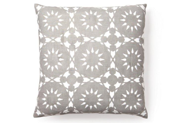 Casablanca 20x20 Pillow, Gray
