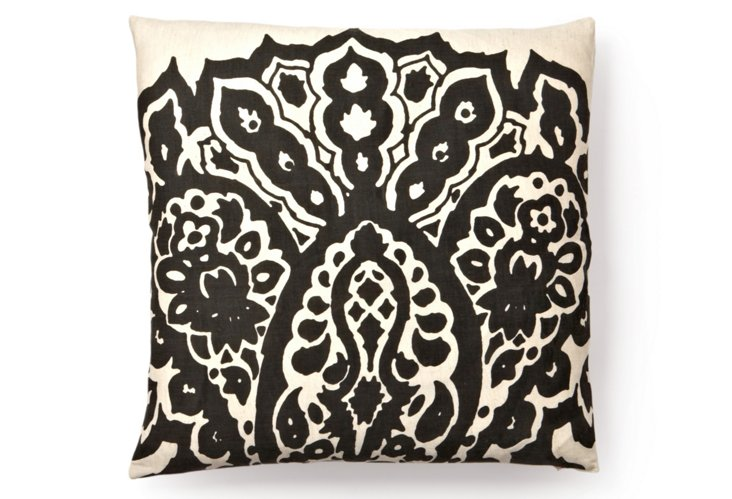 Johar 20x20 Pillow, Charcoal