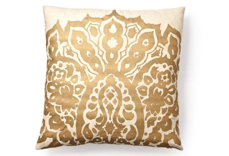 Johar 20x20 Pillow, Gold