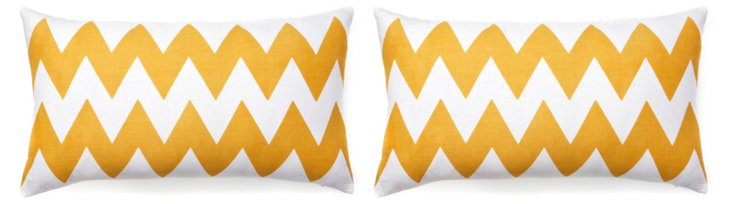 S/2 Altai 12x22 Cotton Pillows, Mustard