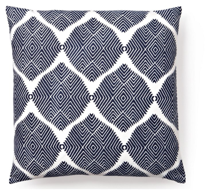 Indus 20x20 Pillow, Navy