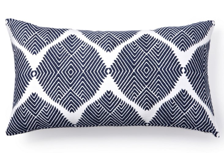 Indus 12x22 Pillow, Navy