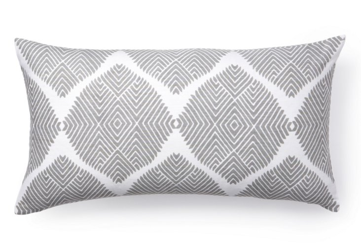 Indus 12x22 Pillow, Gray
