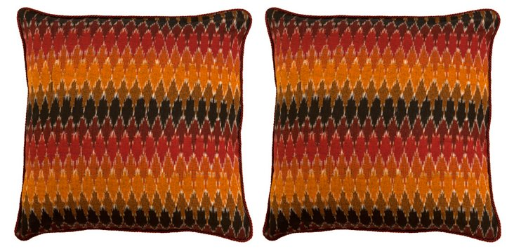 S/2 Inca 20x20 Cotton Pillows, Multi