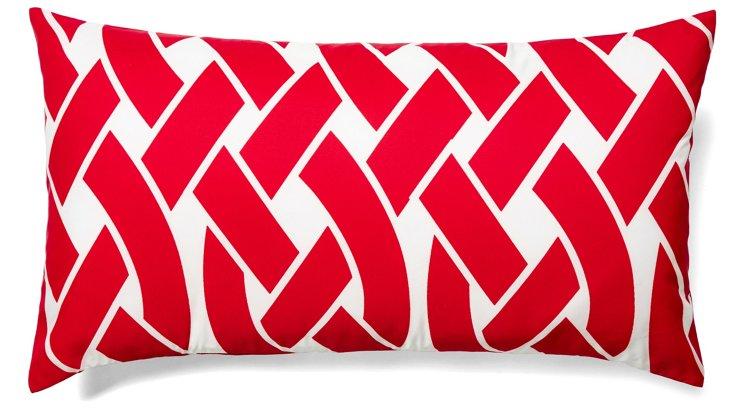 Knottica 12x22 Outdoor Pillow, Red