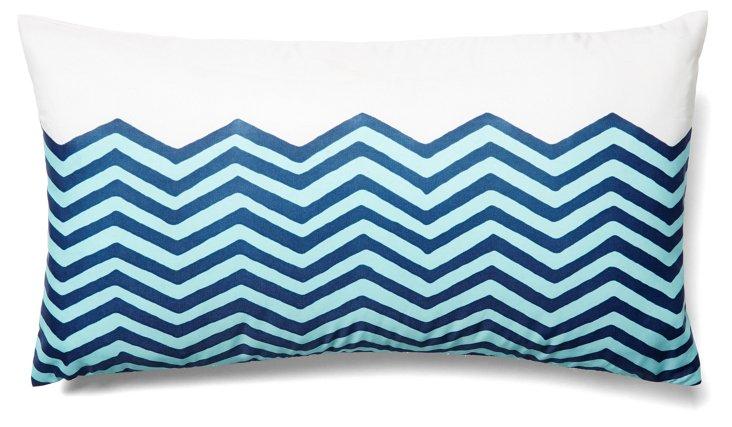 Waves 12x22 Outdoor Pillow, Navy