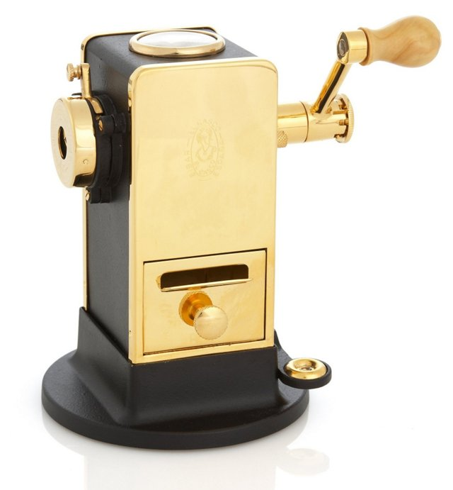 23K Gold-Plated Pencil Sharpener